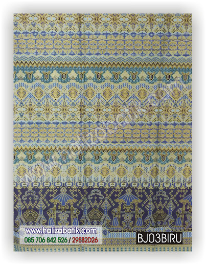 Koleksi Baju Batik Modern, Baju Batik Kerja, Busana Muslim Batik Modern, BJ03 BIRU