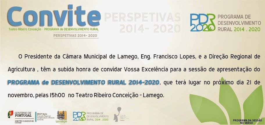 Apresentação do Programa de Desenvolvimento Rural 2014-2020 - Lamego