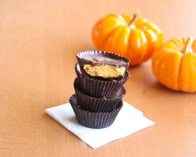 Pumpkin Cheesecake Chocolate Cups - Kirbie's Cravings