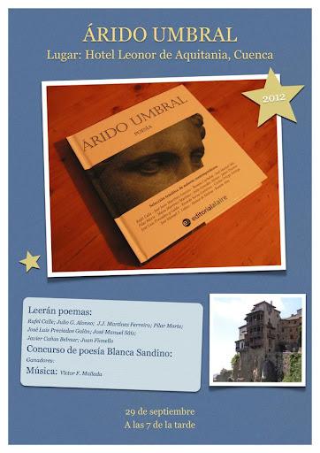 Cartel de la preentación en Cuenca de Árido Umbral