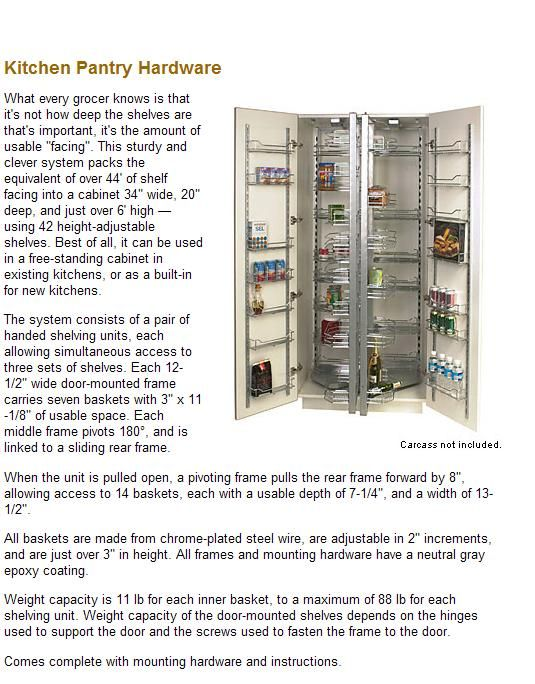 Does anyone have Lee Valley Kitchen Pantry Hardware Unit?