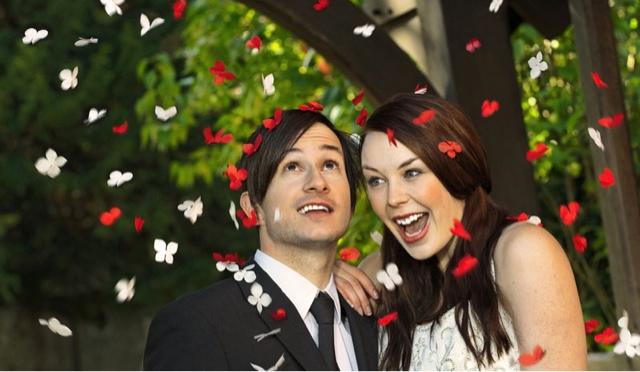 Liberación de mariposas para bodas