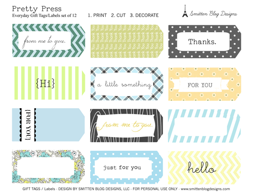 Anytime Gift Tags Free Printable. - Smitten Blog Designs