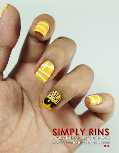 Here Comes the Sun Nail Art Design