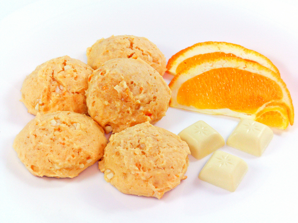 Tina's cookings: WHITE CHOCOLATE ORANGE COOKIES