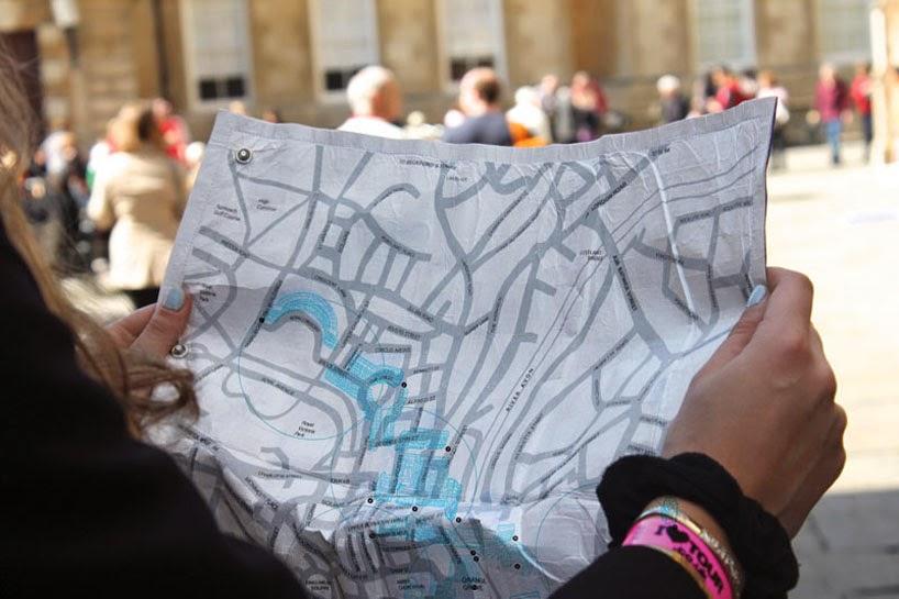 傳統地圖大翻新!在紙上看天氣搜尋景點
