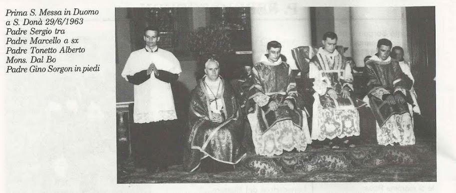 Prima S. Messa di P. Sergio Sorgon