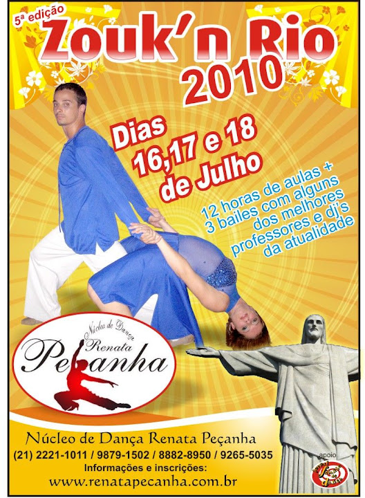 Zouk'n Rio, promovido por Renata Peçanha em sua academia, no Centro do Rio. Nas fotos, cenas do baile e das aulas do workshop, incluindo alguns clipes filmados na aula do prof. Rafael Oliveira.