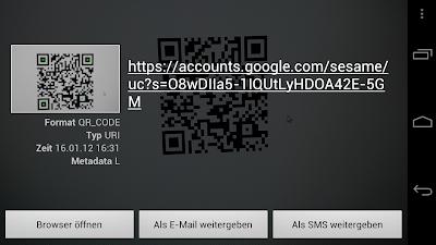 Google Sesame Login QR-Code