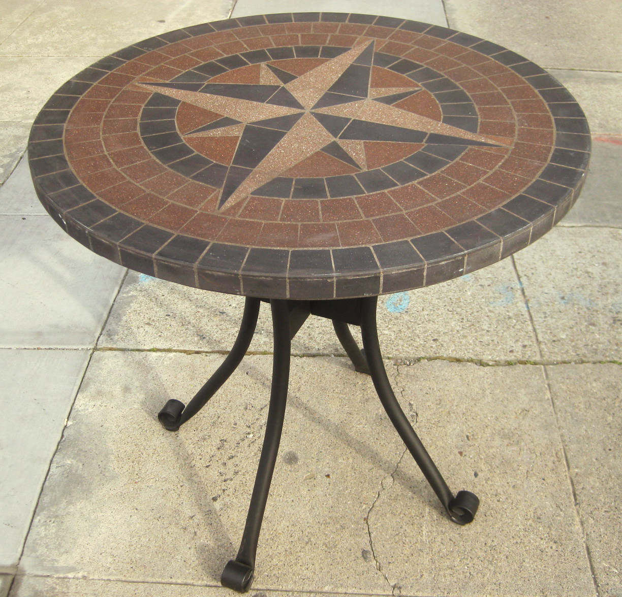 Uhuru Furniture Amp Collectibles Sold Iron And Tile Patio