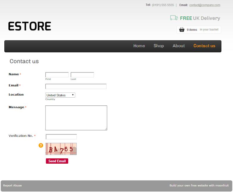 Publish web forms on Moonfruit websites - 123ContactForm