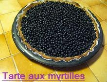Tarte aux myrtilles sauvages