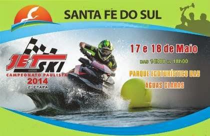 Santa Fé sediará a 2ª etapa do Campeonato Paulista de Jet Ski.