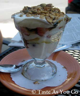 Breakfast Parfait at Jumbars in Bethlehem, PA - Photo by Michelle Judd of Taste As You Go