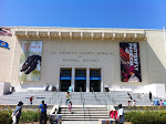 The front of the museum which faces towards the LA Coliseum