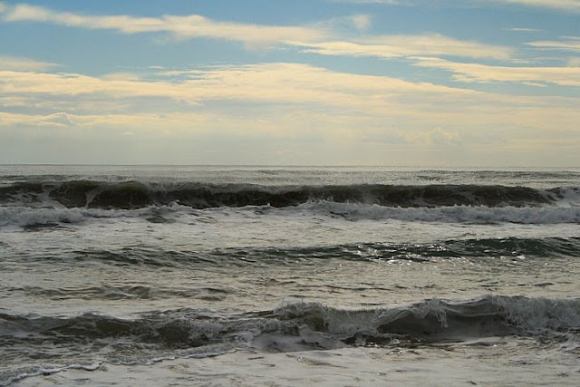 rough sea in winter