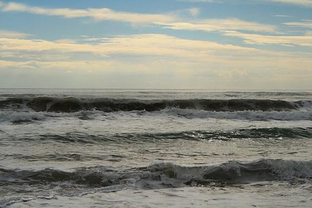 rough sea in winter