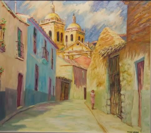 calle de Cigales,pintura al óleo del pintor Pascual Aranda