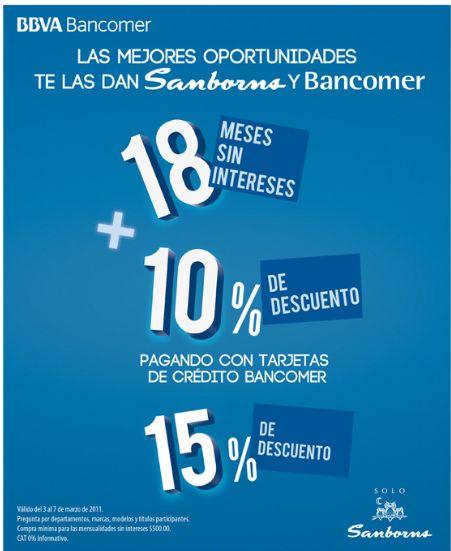 Sanborns 18 msi m s 10 de descuento o 15 pagando con for Sanborns los azulejos direccion