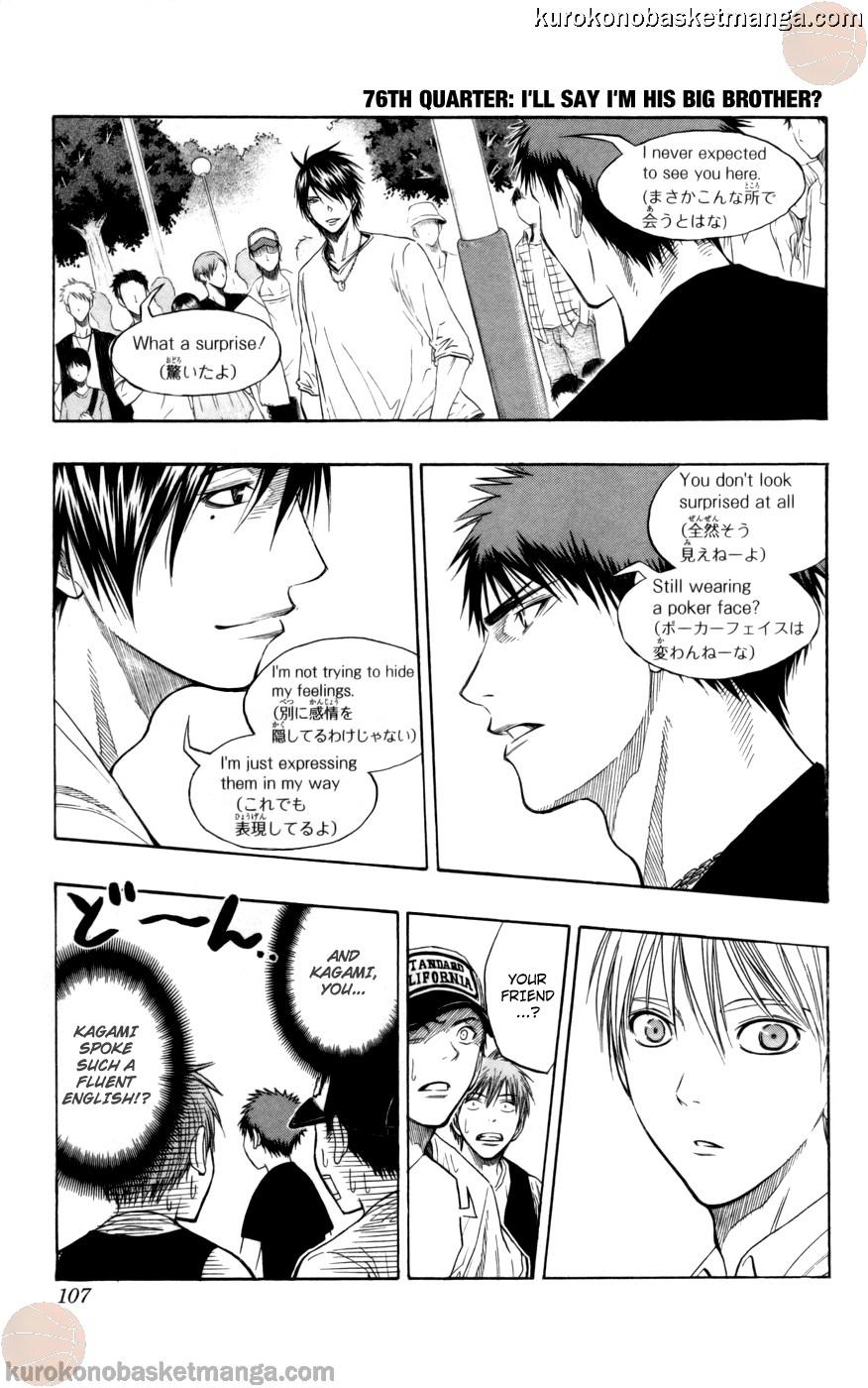 Kuroko no Basket Manga Chapter 76 - Image 01