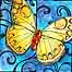 Thumbnail of Autumn Butterfly on Stained Glass - Nov. 14, 2011