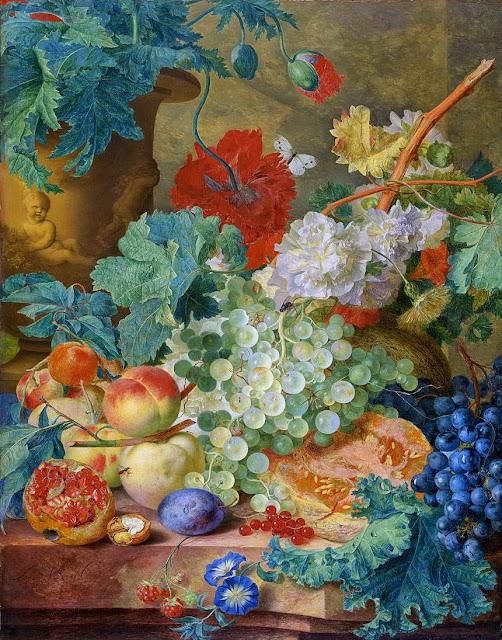 Jan van Huysum - Fruit and Flowers