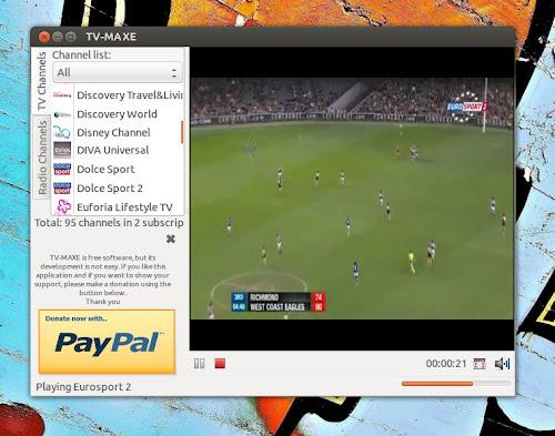 TV-Maxe 0.07 su Ubuntu