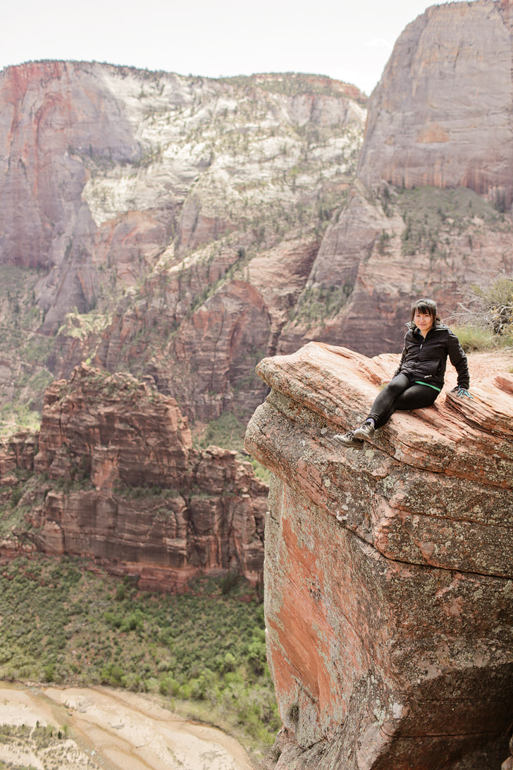 Hiking Zion National Park.