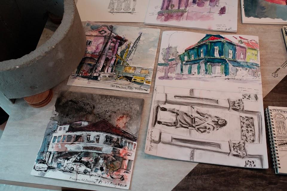 Little India Sketchwalk (8 March 2014)