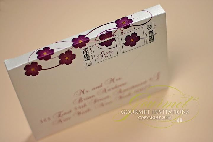 Melissa John Silk Folios in Die Cut Envelopes Gourmet Invitations – Luxury Wedding Invitations in Boxes