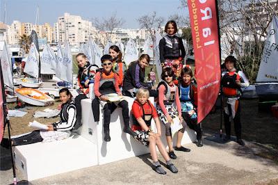 Voile régate compétition optimist interligue Carnon mars 2012 YCMC