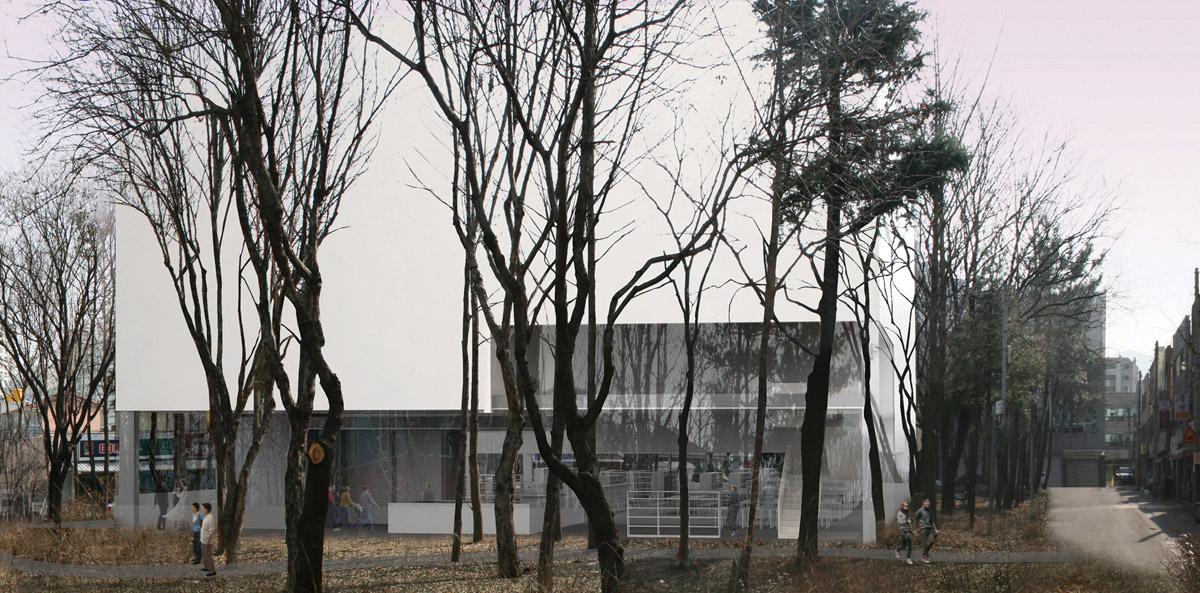 Daegu Gosan Public Library design by Gorka Blas
