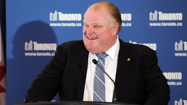 Rob Ford Savours HERO Burger Chain Win At Toronto City Hall