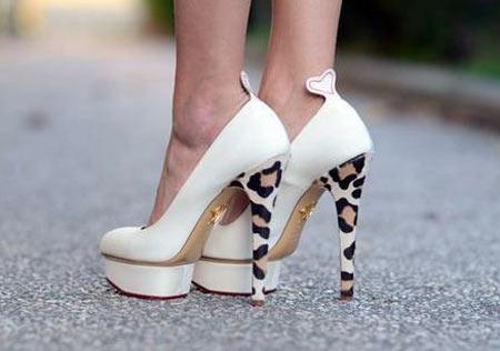 Inspiração: oncinha - sapato de salto alto