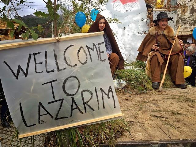Fotos - Caretos desceram à rua para festejarem entrudo popular em Lazarim