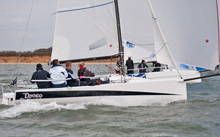 J/70 one-design speedster- sailing Warsash spring series