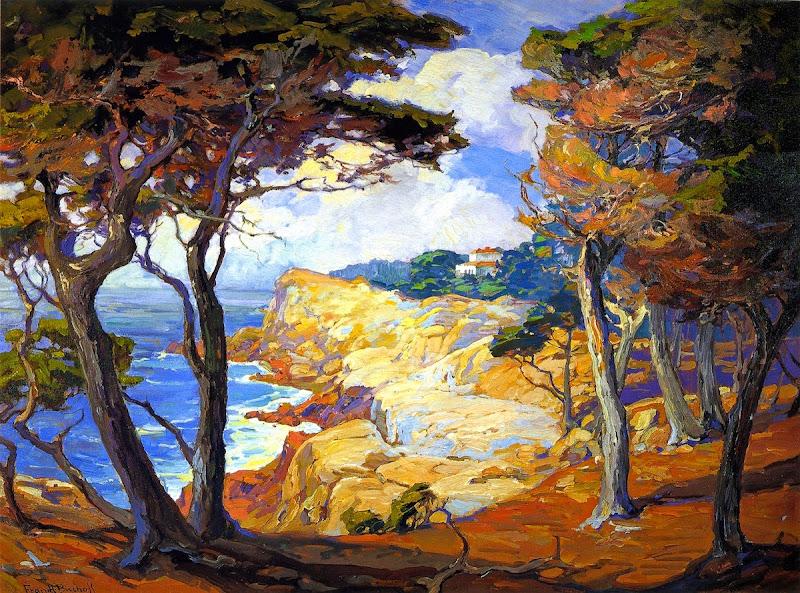 Franz Bischoff - A Villa on the Monterey Coast