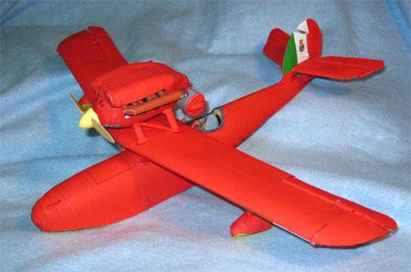 Porco Rosso Papercraft Savoia S21 Seaplane