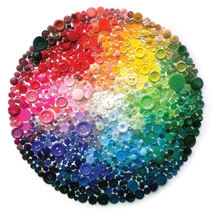 *彩虹鈕扣藝術畫:Karen Hurley 幼年的激發! 1
