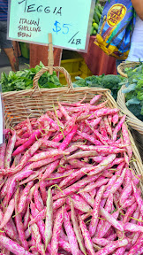 A Saturday in August at the Hollywood Farmers Market in Portland, Oregon, a new adventure when I was introduced to Teggia, an Italian Shelling Bean