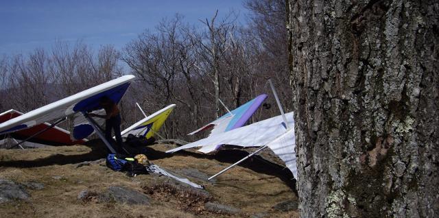 Setup area at the Trail