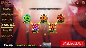 Game Kiếm Hiệp 2.7.0 phiên bản Danh Dương Tứ Hải 4