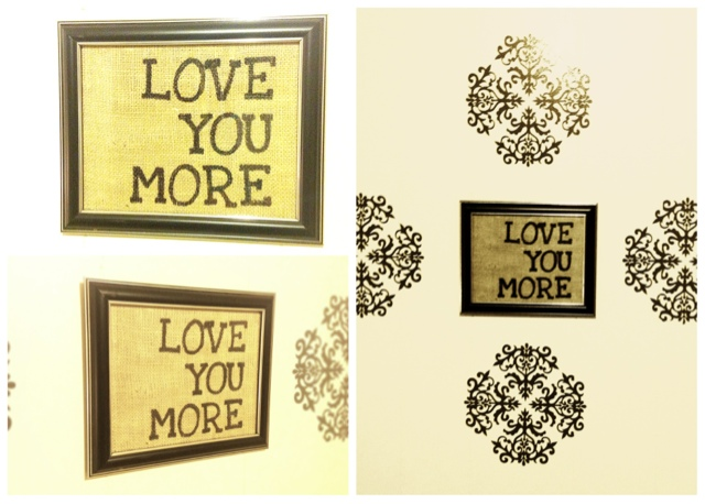 the kc experience love you more wall decor. Black Bedroom Furniture Sets. Home Design Ideas