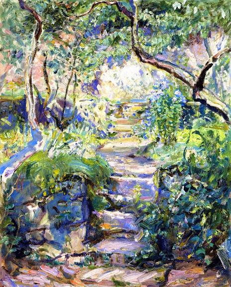 Max Slevogt - Garden Steps in Neukastel