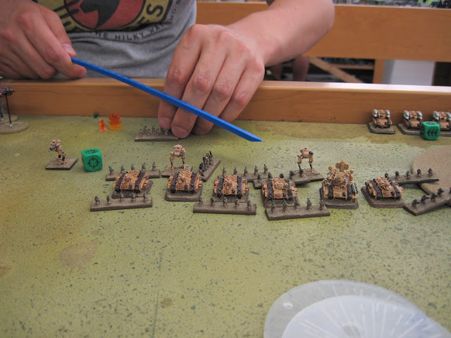 Guardsmen hoofing it.