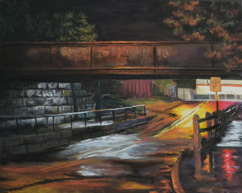 This Side Of The Tracks, 16x20 inches, Private Collection