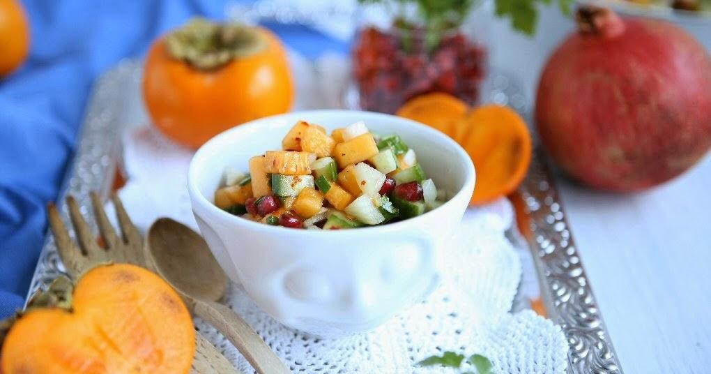 Persimmon Pomegranate Salsa
