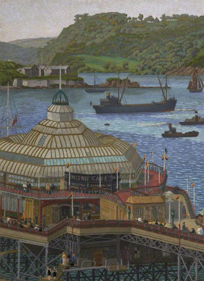 Charles Ginner - Plymouth Pier from the Hoe