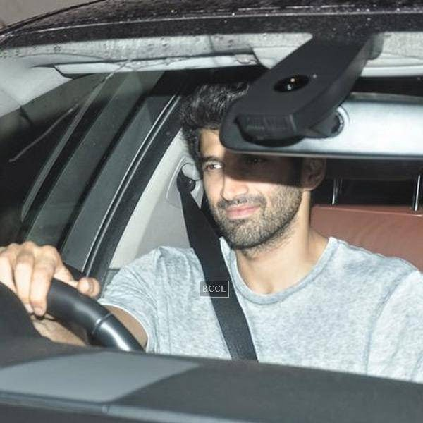 Aditya Roy Kapoor arrives for the screening of a movie, in Mumbai, on July 24, 2014. (Pic: Viral Bhayani)