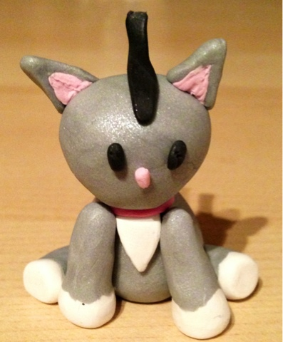 Mohawk Polymer Clay Cat